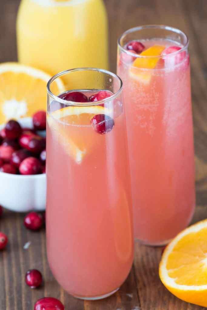 Cranberry Mimosa Bellini