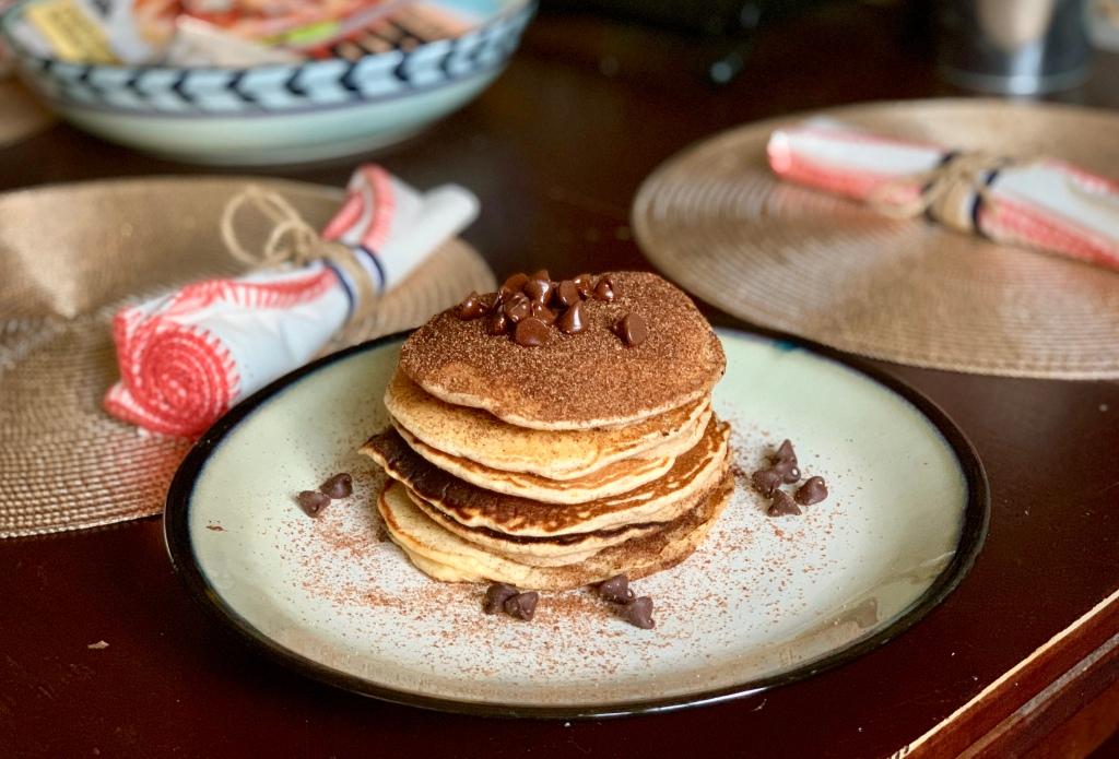 Chocolate Chip Snickerdoodle Pancake